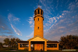 The Lake Minatare Lighthouse is one of only seven inland lighthouses in the United States. It was built in the late 1930s by the Veterans Conservation Corps, a New Deal agency that provided jobs to unemployed veterans during the Great Depression.