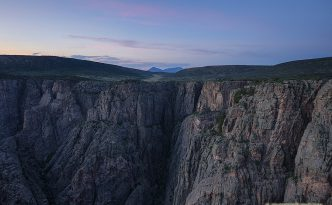 Black Canyon of the Gunnison at Dusk