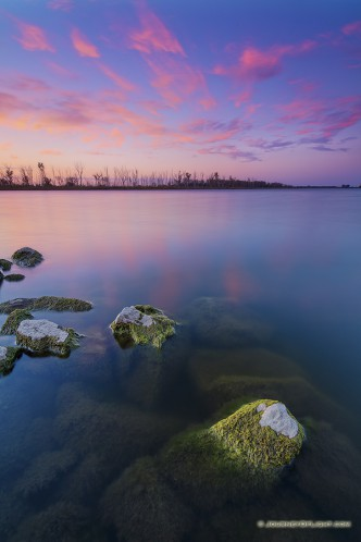 Vivid Sunset at DeSoto National Wildlife Refuge