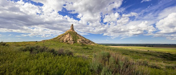 Chimney Rock on a Beautiful Spring Afternoon