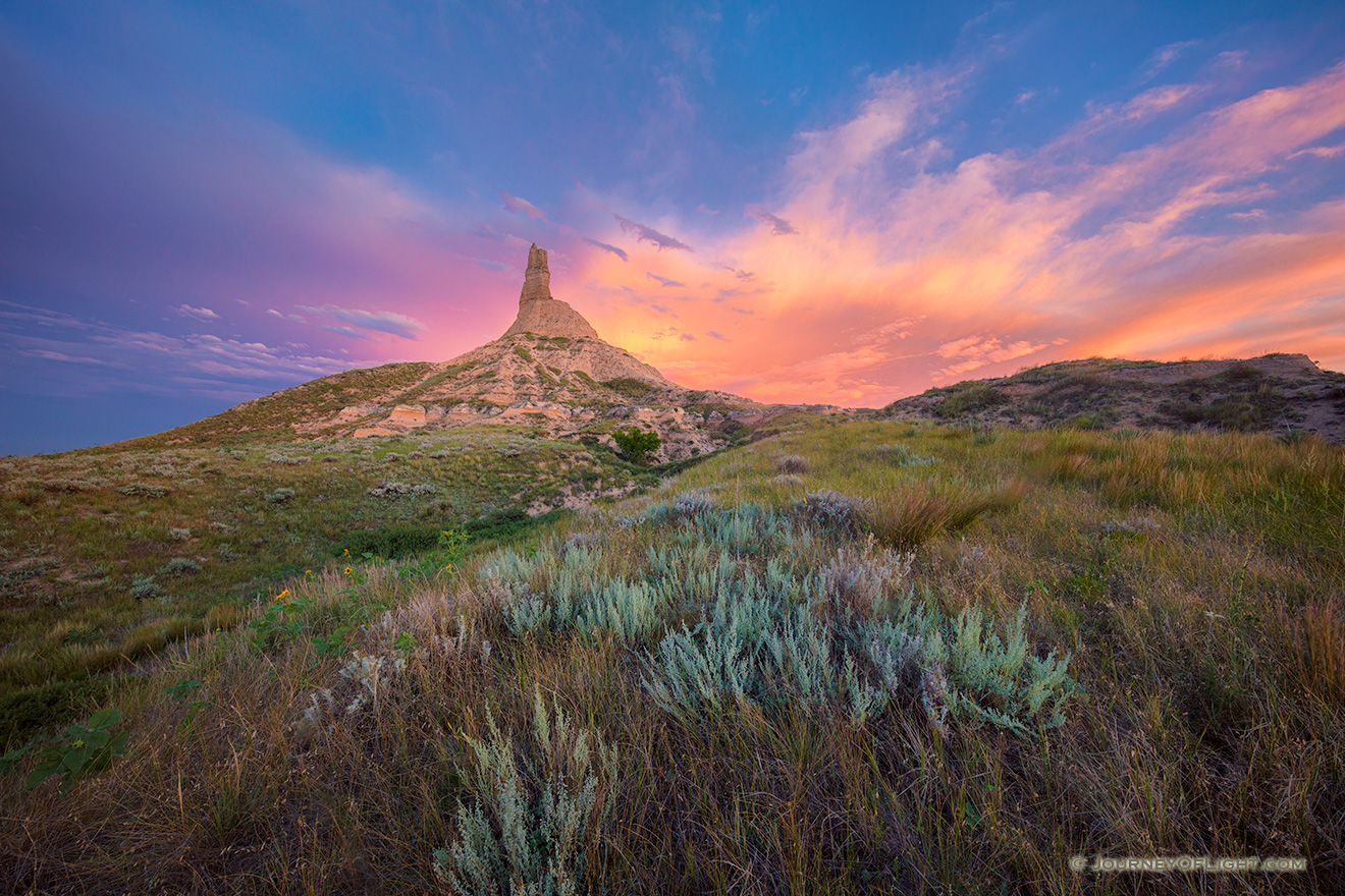 A Beautiful Chimney Rock Sunset