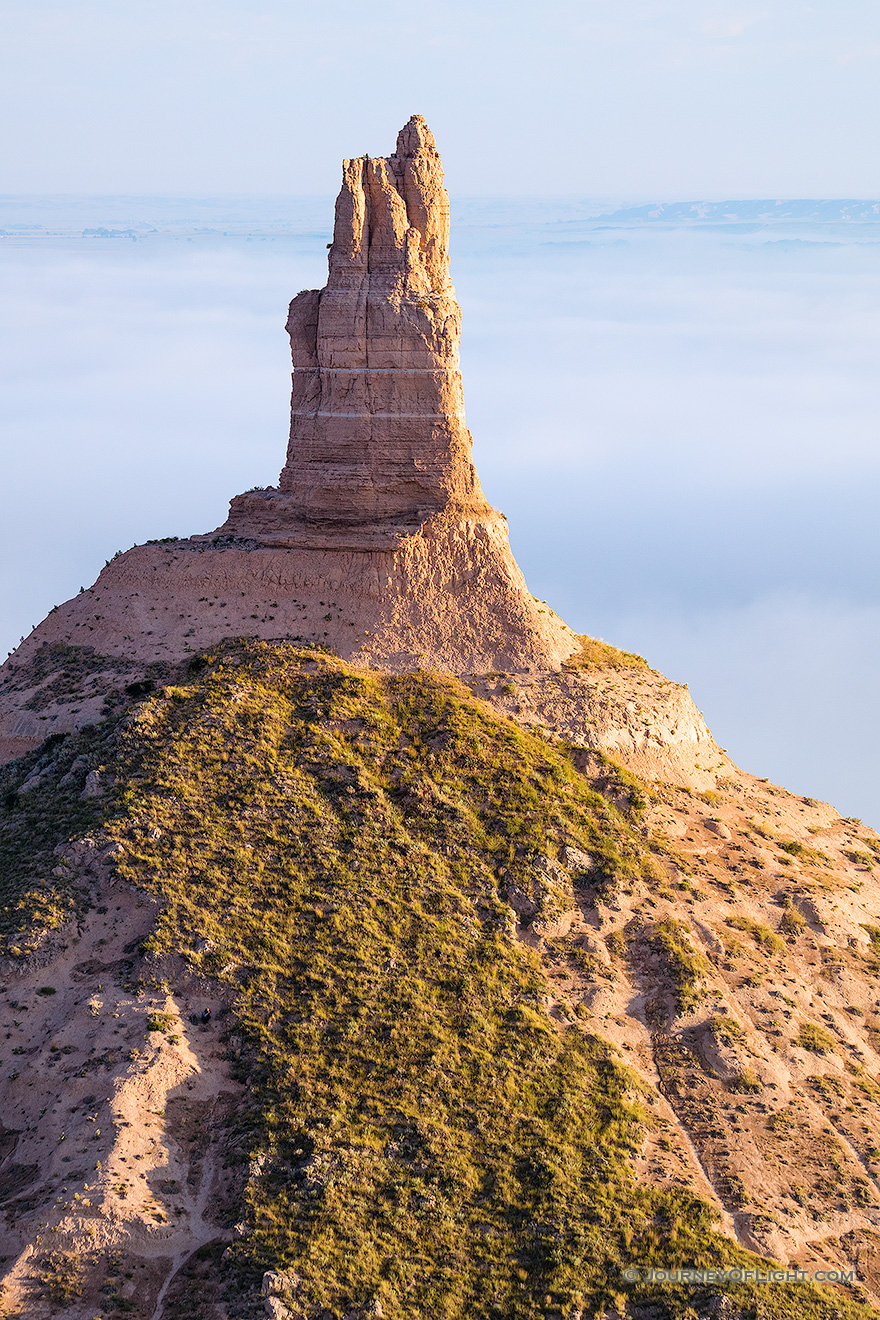Chimney Rock Above the Fog