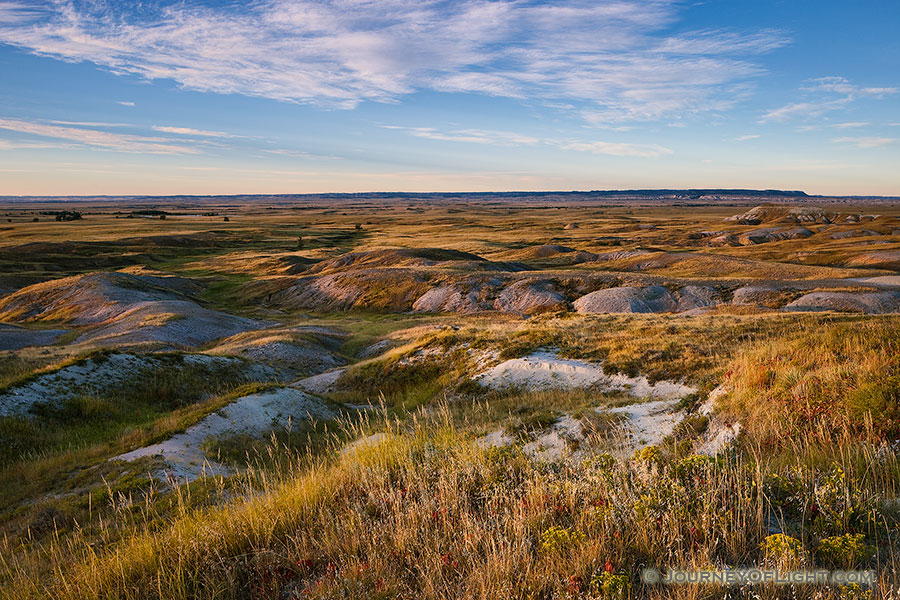 Morning comes and the sun shines across the grasslands of the Oglala National Grassland. - Nebraska Photography