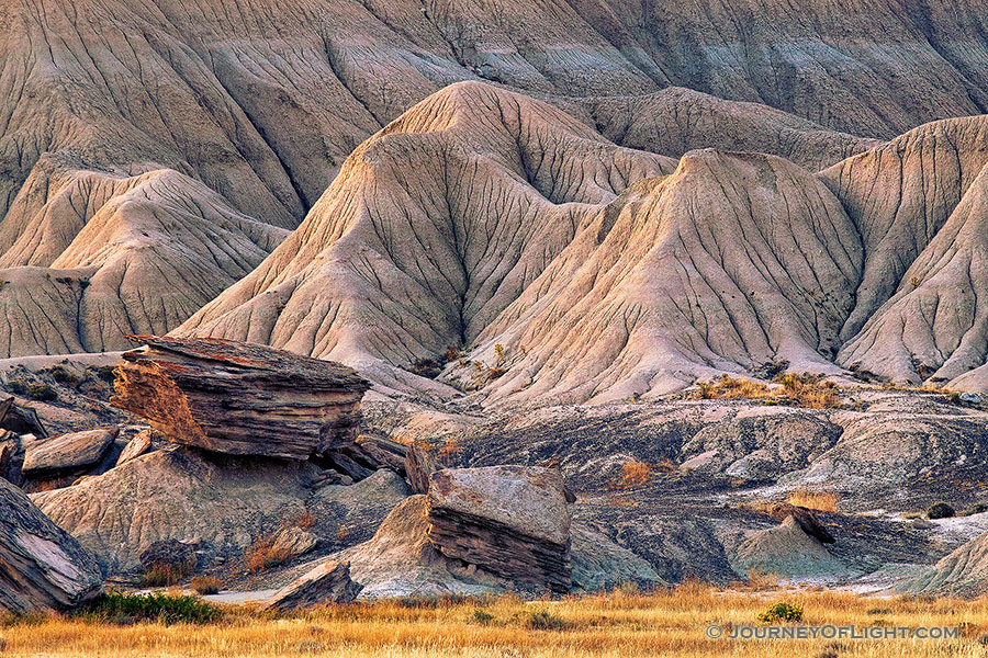 The last light of day touches the unique formations at Toadstool Geologic Park in western Nebraska. - Toadstool Photography