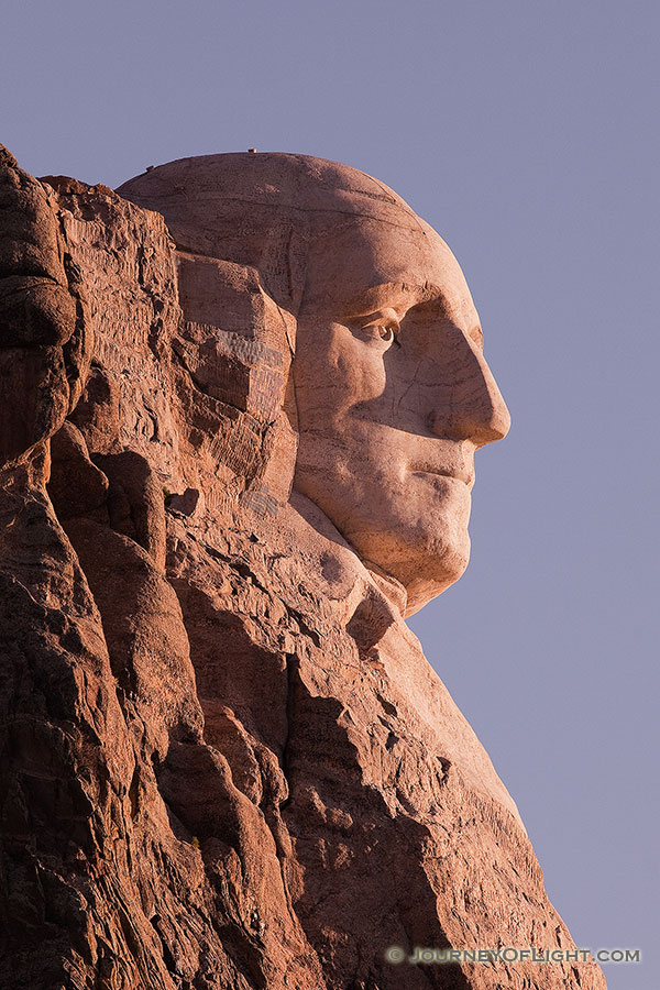 Washington's profile in the Black Hills of South Dakota. - Mt. Rushmore NM Photography