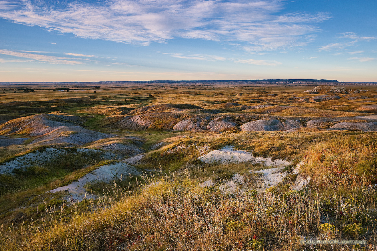 Morning comes and the sun shines across the grasslands of the Oglala National Grassland. - Nebraska Picture