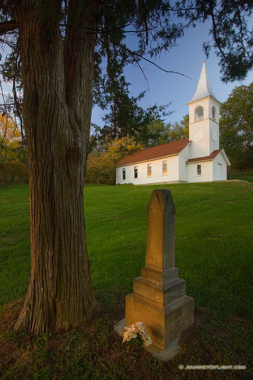 The Ingemann Danish Church And Cemetery West Of Moorhead In Loess Hills Iowa Was
