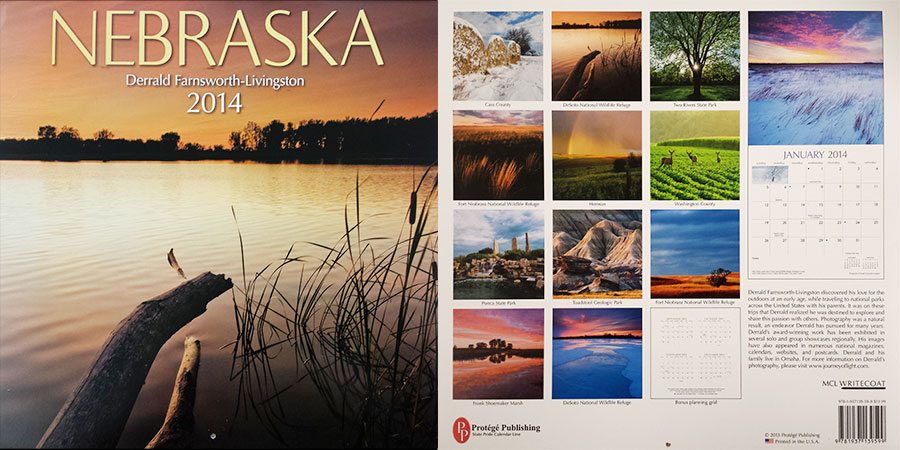 2014 Nebraska State Pride Calendar.  Sold in Costco, Barnes and Noble, and Calendar Club.  Contributed All Photography. -  Picture
