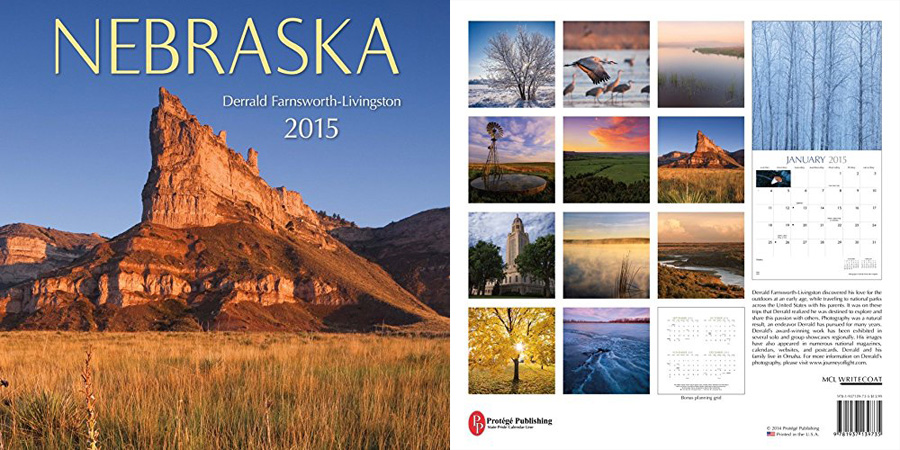 2015 Nebraska State Pride Calendar.  Sold in Costco, Amazon, and Calendar Club.  Contributed All Photography. -  Photography