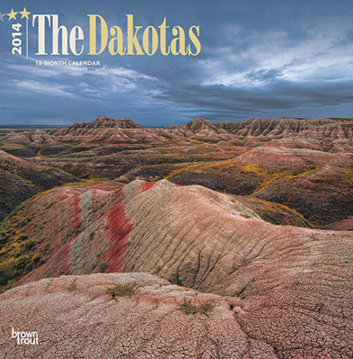 2014 The Dakotas Wild and Scenic - Brown Trout Publishers.  Contributed cover photograph. -  Picture